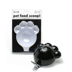 O.R.E Pet Food Scoop Two Tone Paw/White-F396